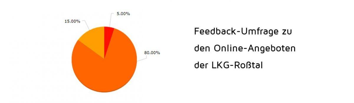Feedback-Umfrage zu den Online-Angeboten der LKG-Roßtal